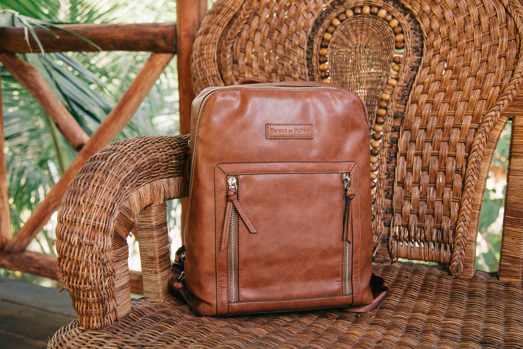 Olivia Backpack- Saddle