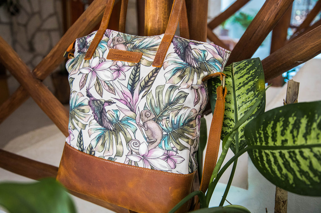 NEW- Everyday Bag- Rainforest Canvas