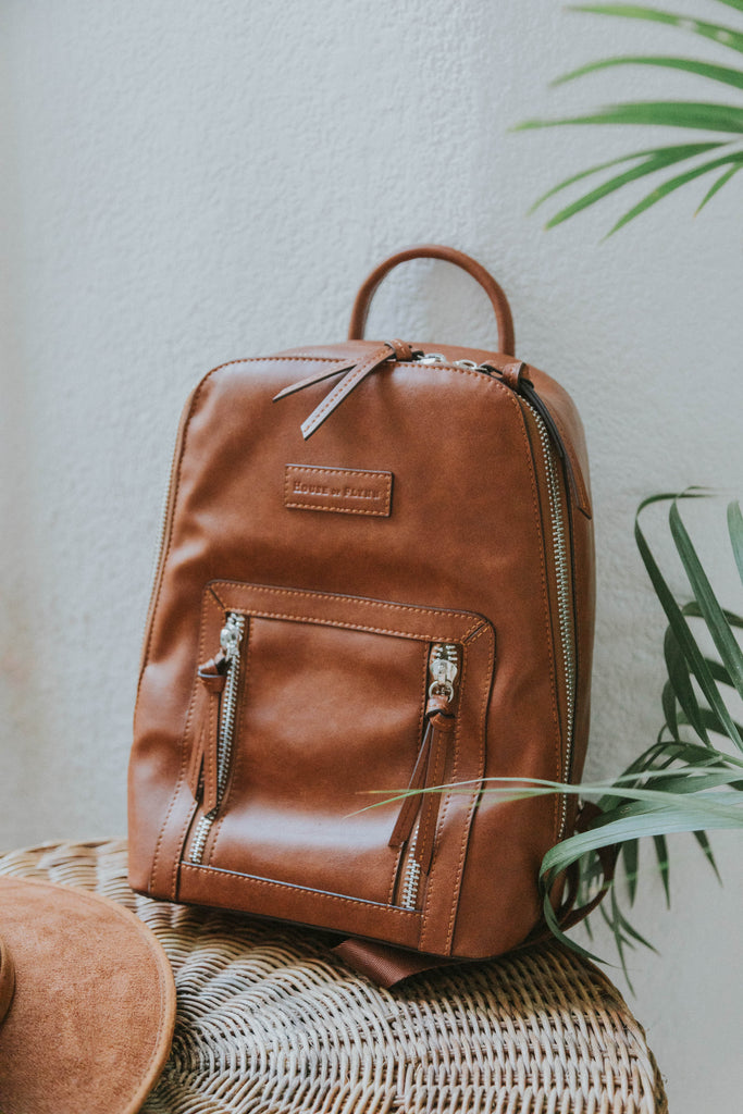 Mini Olivia Backpack- Saddle Color