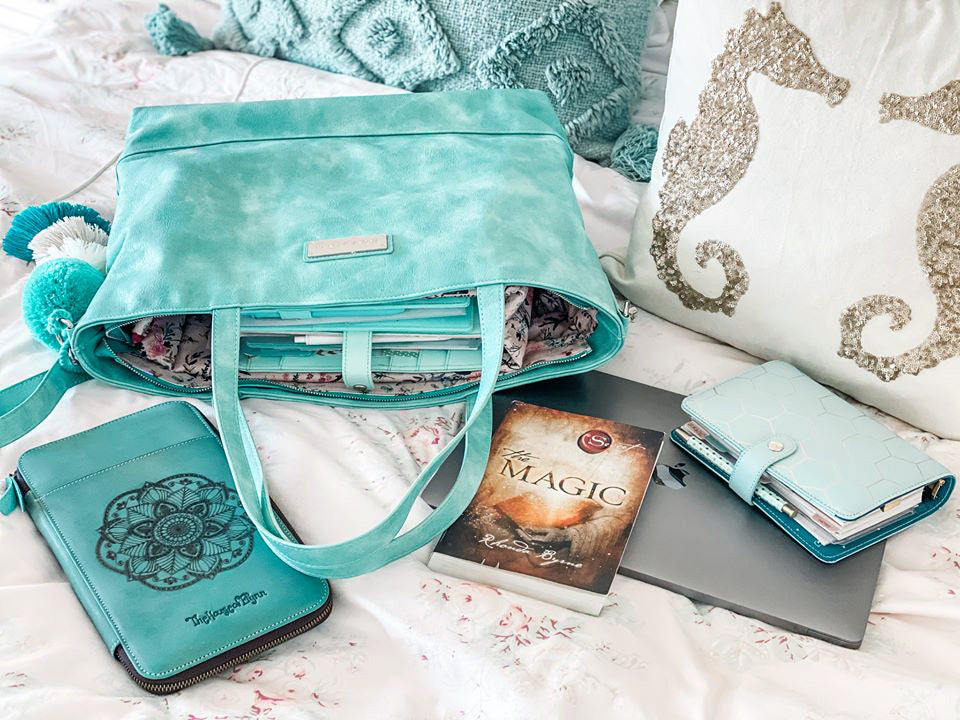 NEW- Blush Aqua-The Roam and Rise Carryall