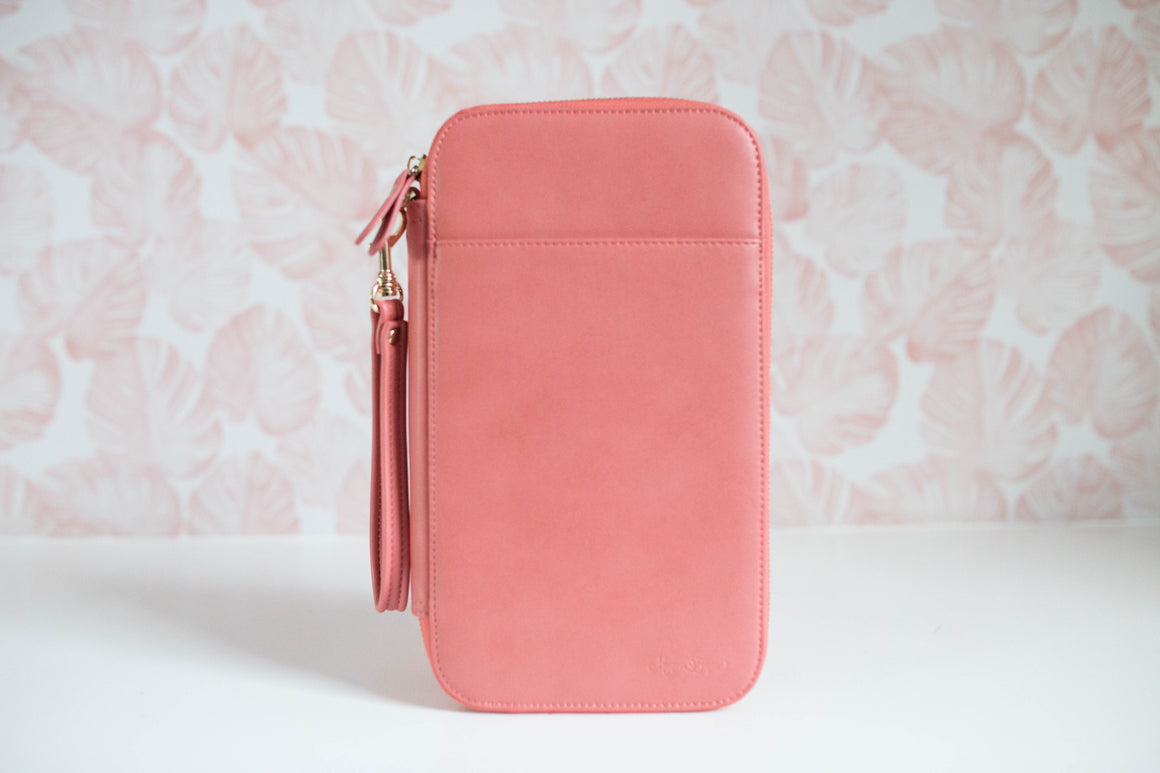 CLEARANCE- Summer Salmon Traveler's Wallet