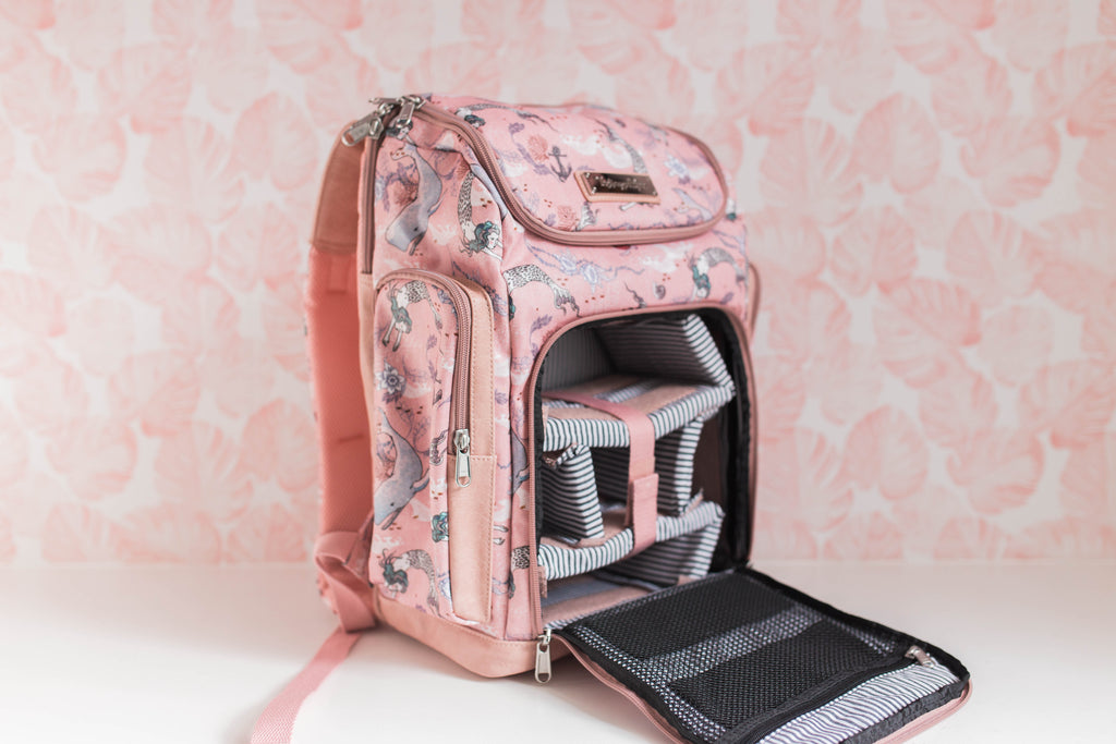 Oceana Mermaids Pink Diaper Bag -Backpack