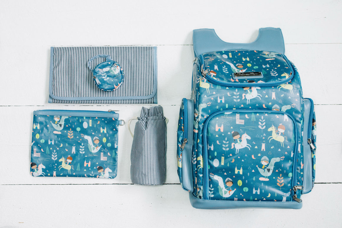Dragons and Unicorns Diaper Bag - Backpack