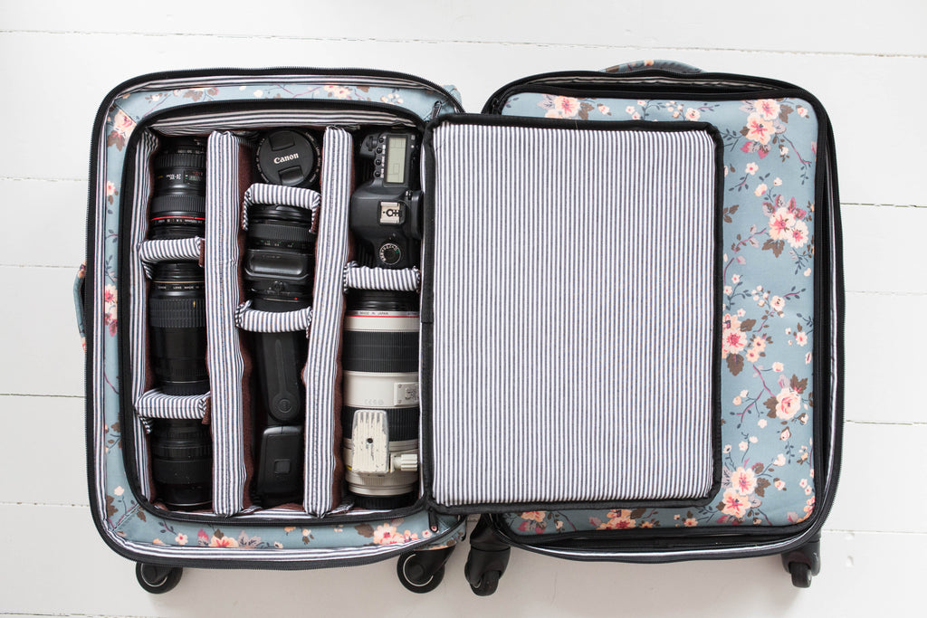 NEW!- EARLY PRESALE!- Blush Fable Camera Travel Shoot Rolling Bag