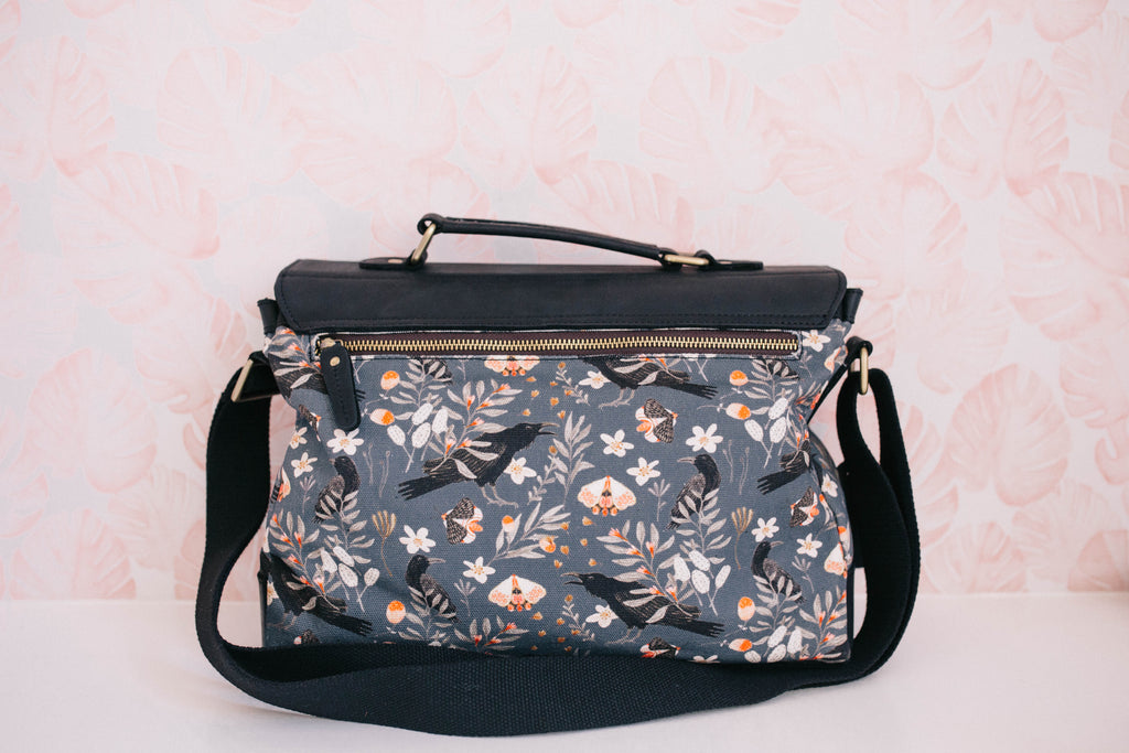 NEW- Raven- Black- Satchel Purse