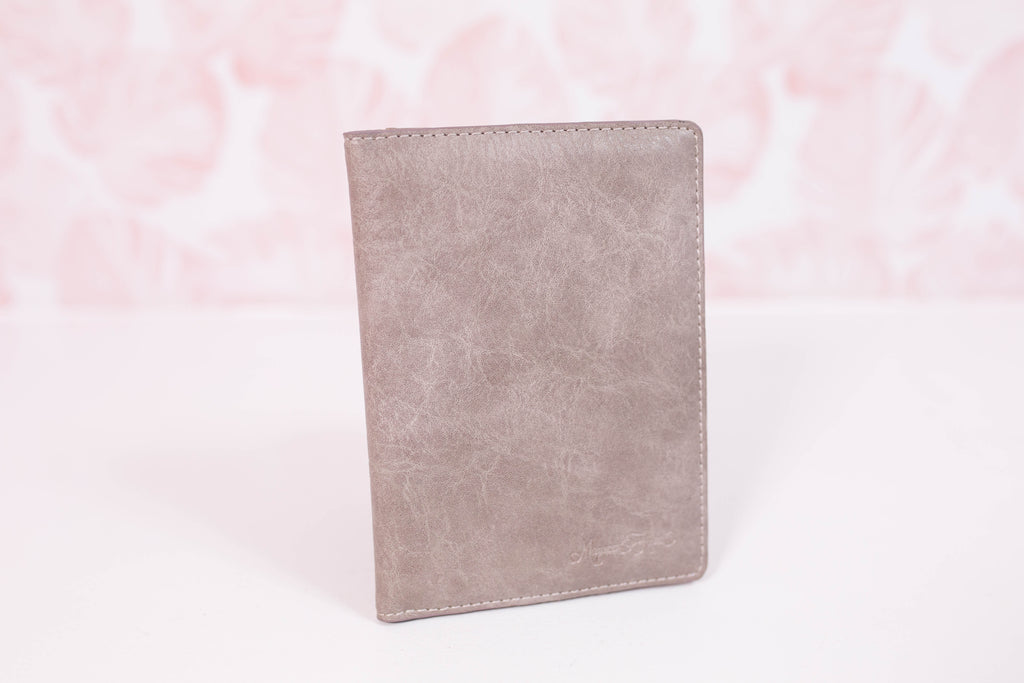 Stormy Grey Small Wallet/Passport Cover