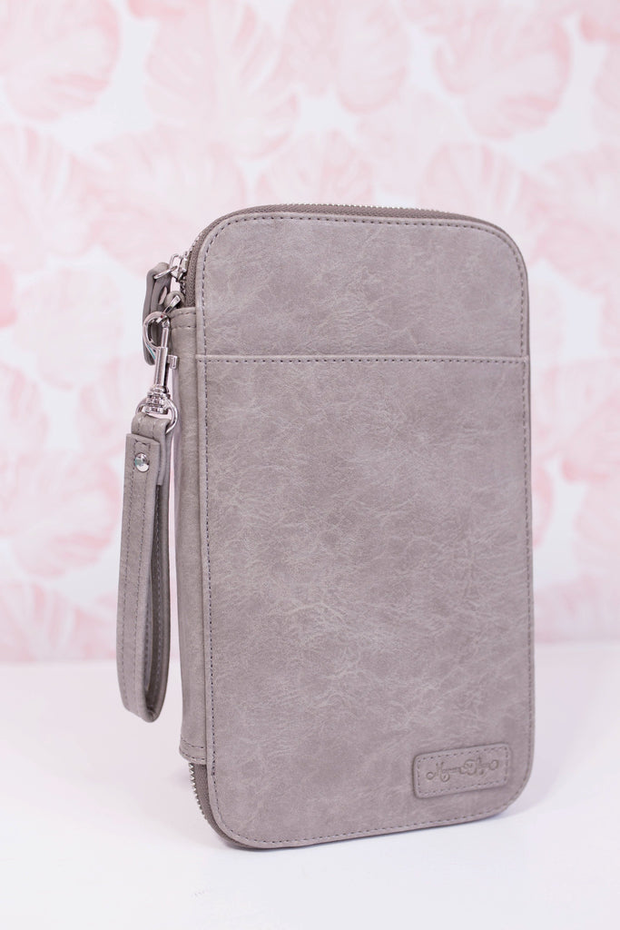 Stormy Grey Traveler's Wallet