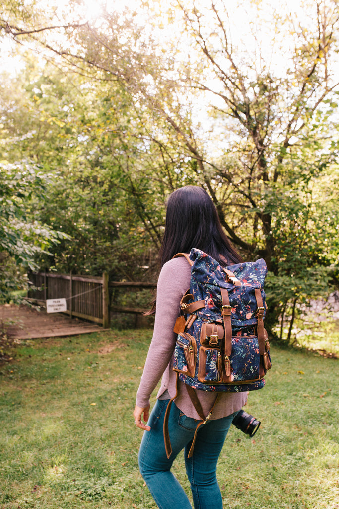 Grape Fable Floral Rucksack