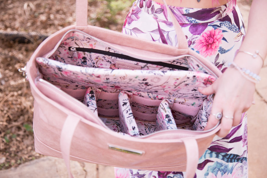 NEW-  Blooming Blush-The Roam and Rise Carryall