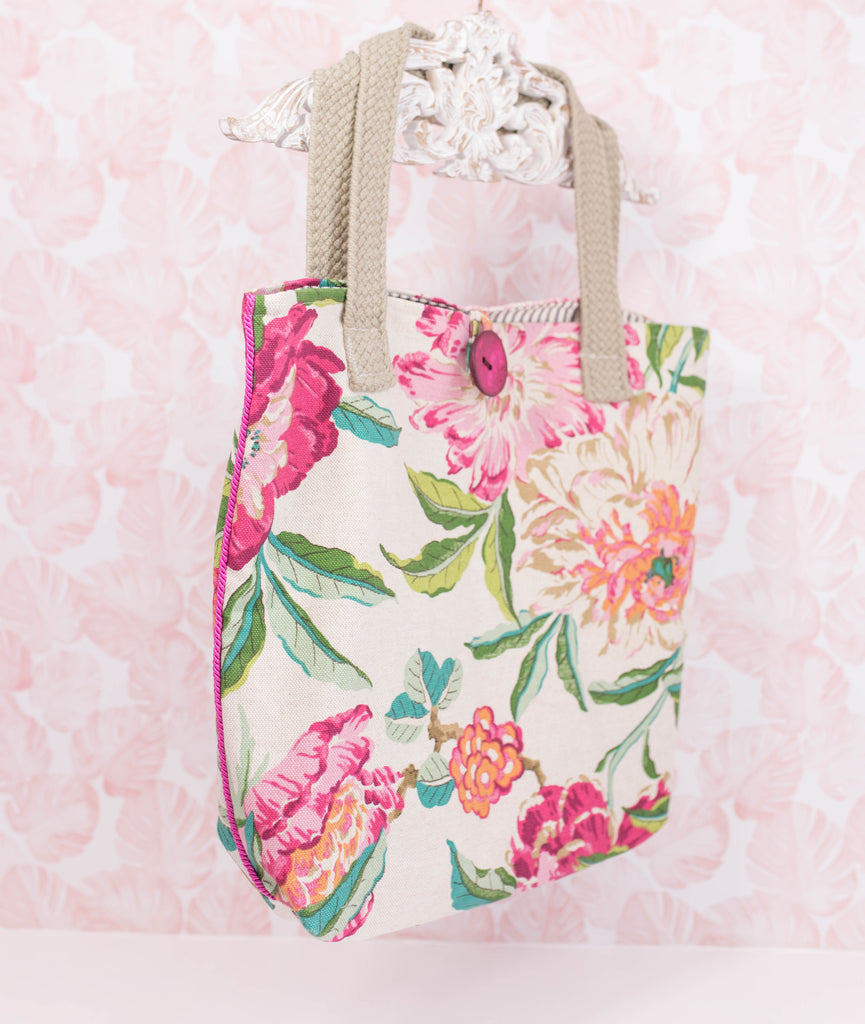 NEW- Handmade Tropical Flower Tote