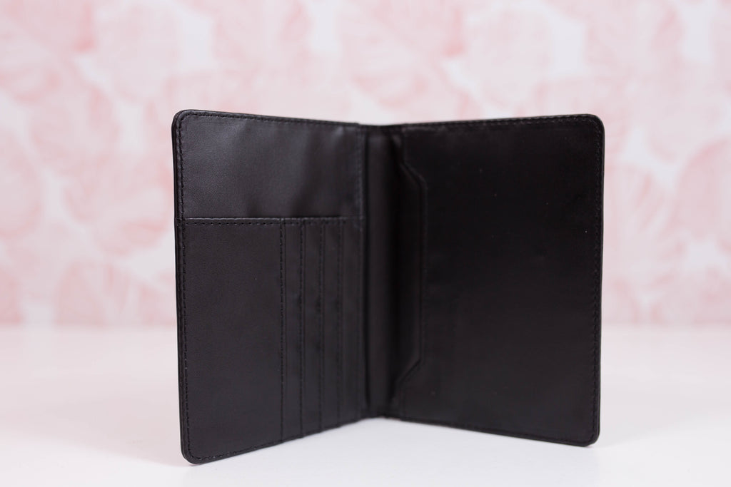 Black Fable Small Wallet/Passport Cover