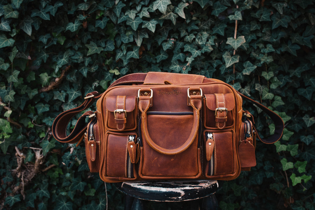 Leather Mini Evermore-Vintage Brown/Blush Fable