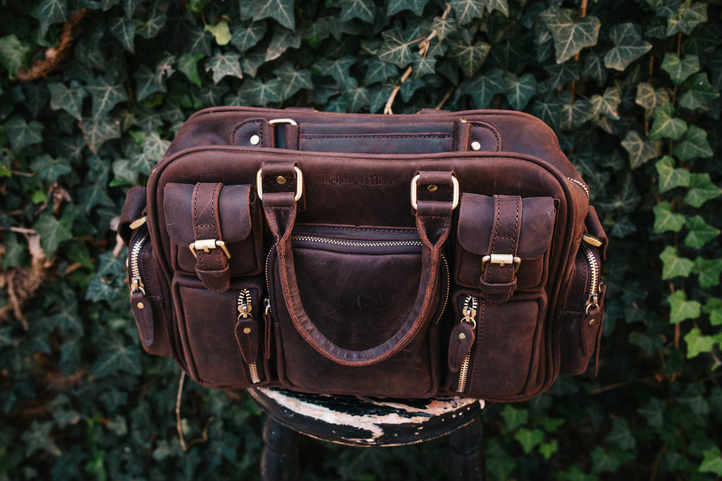 Dark Brown Genuine Leather Mini Evermore