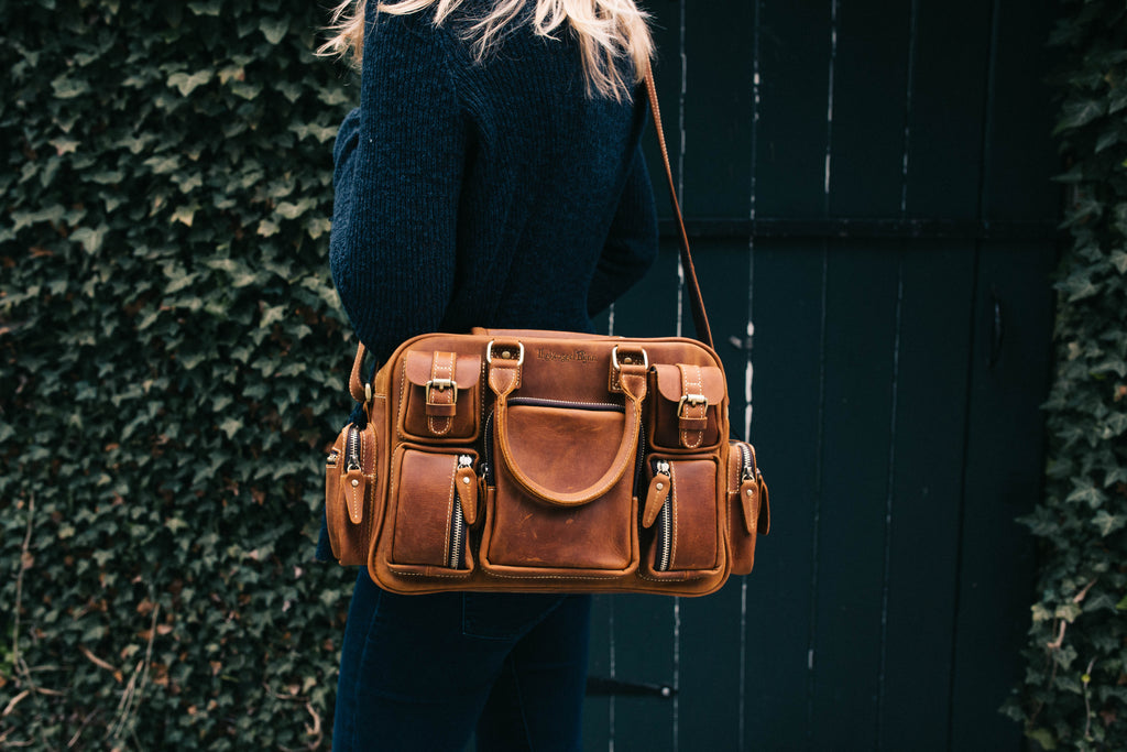 Vintage Brown Genuine Leather Mini Evermore