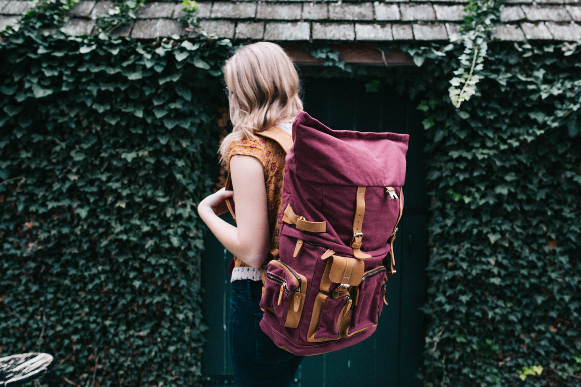 NEW! Safari Edition Rucksack- Autumn Berry