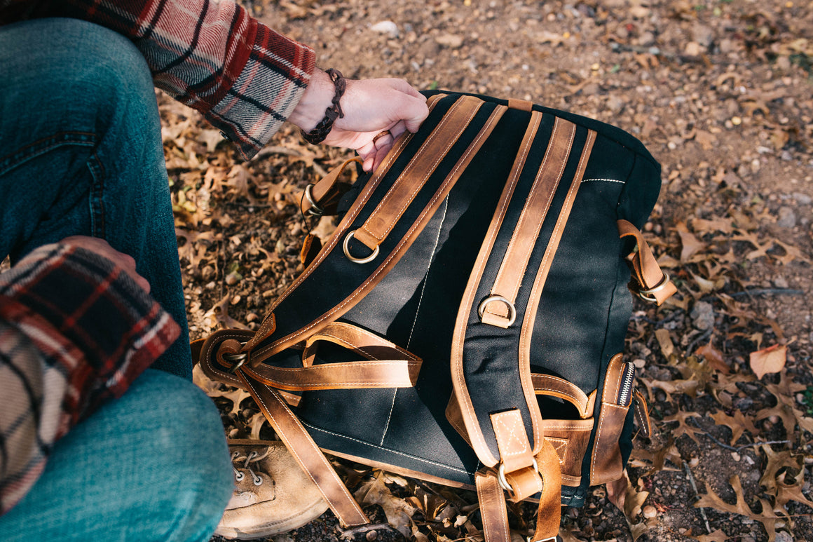 Wanderlust Rucksack- Midnight Black