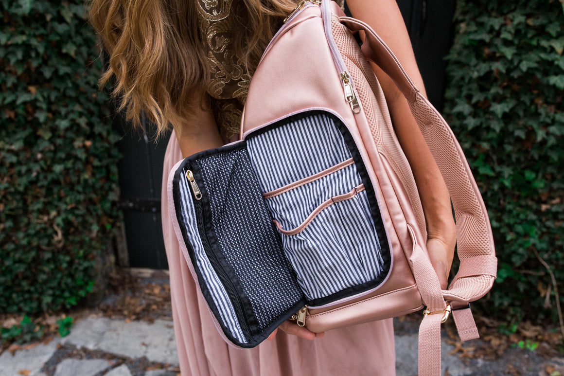NEW!- The Backpack- Champagne Pink