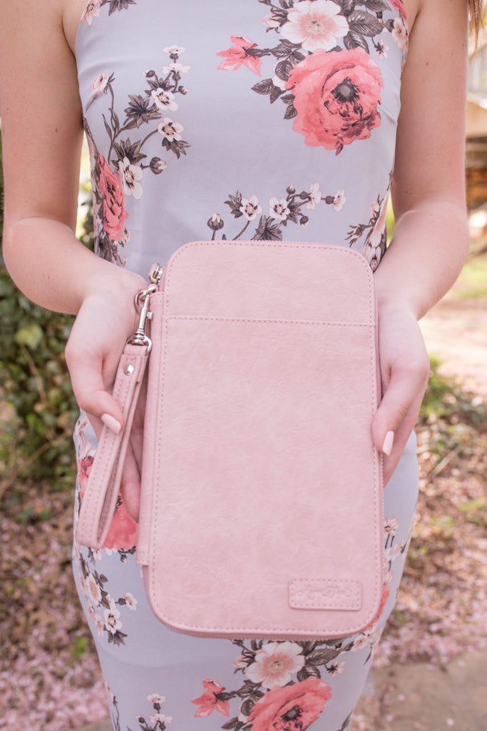CLEARANCE - Blooming Blush Traveler's Wallet