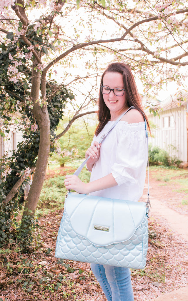 CLEARANCE- Sky Blue Merbabe Bag