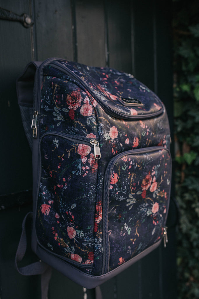 The Backpack- Grape Fable Floral