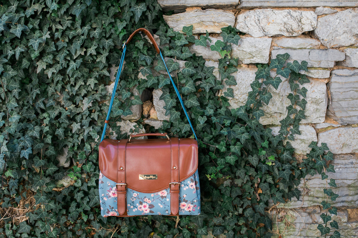 CLEARANCE- Siren Satchel- Cherry Blossom