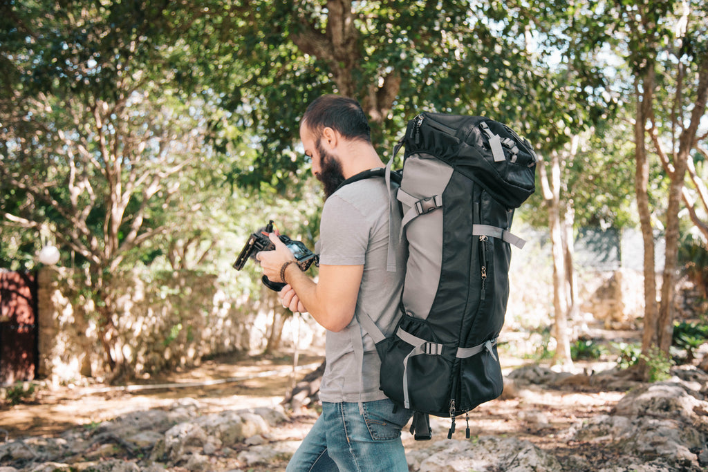 CLEARANCE - Riverstone Black- Photographer Travel Rucksack
