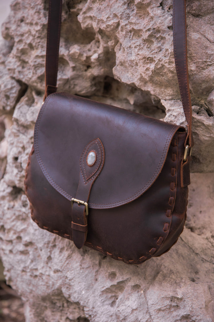 Limited Edition Gemstone Leather Purse