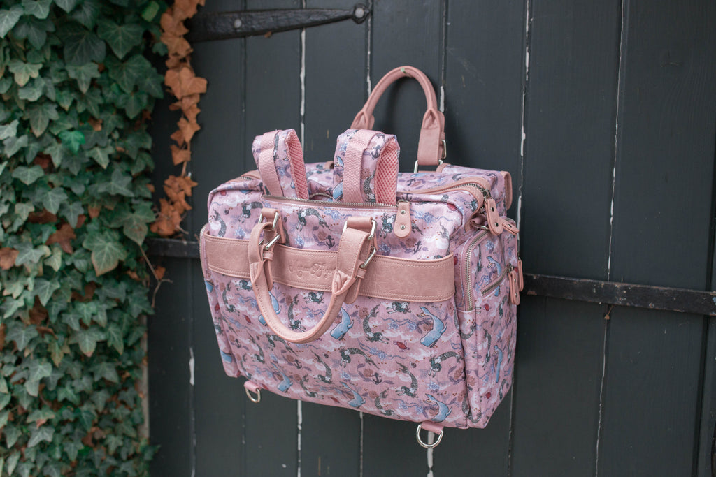 Oceana Mermaids Pink Evermore Diaper Bag Set