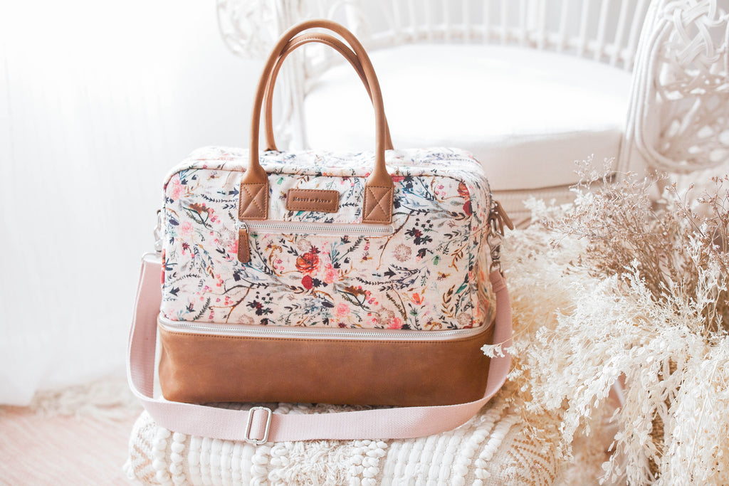 "Weekender ""Countryside"" Bag- Blush Fable"