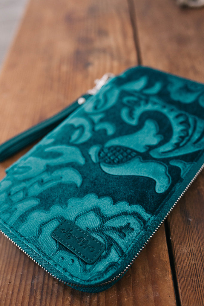 CLEARANCE- Peacock Blue/Teal - Traveler's Wallet
