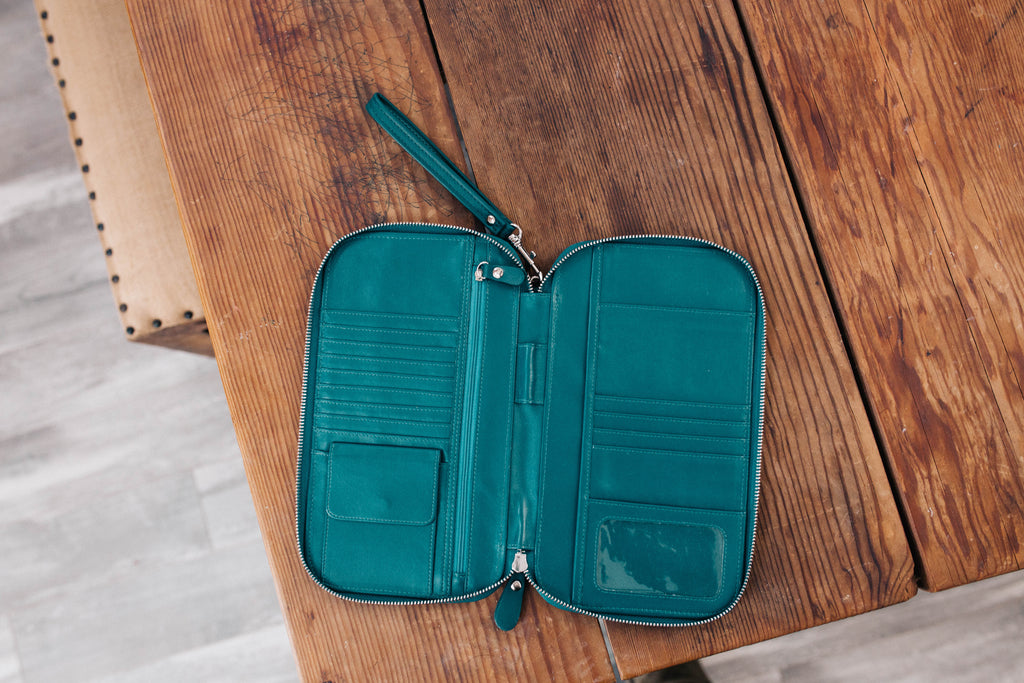 Peacock Blue/Teal - Traveler's Wallet