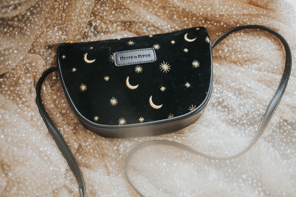 Moon Crossbody Purse- Midnight Black