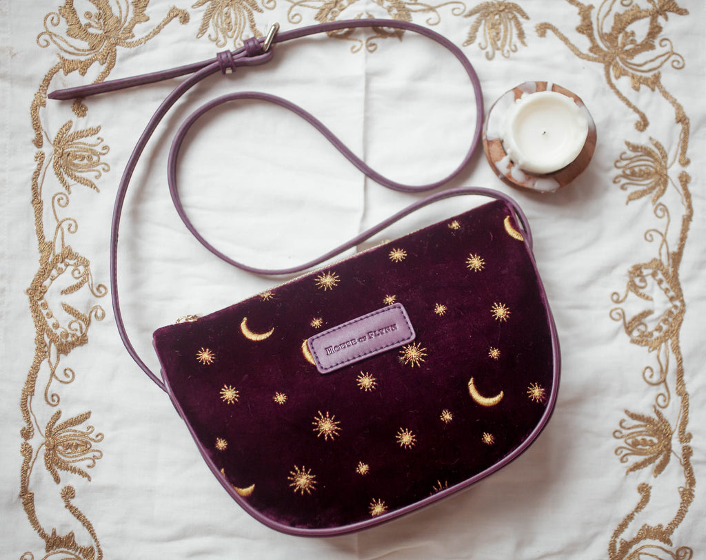PRESALE- Moon Crossbody Purse- Autumn Plum