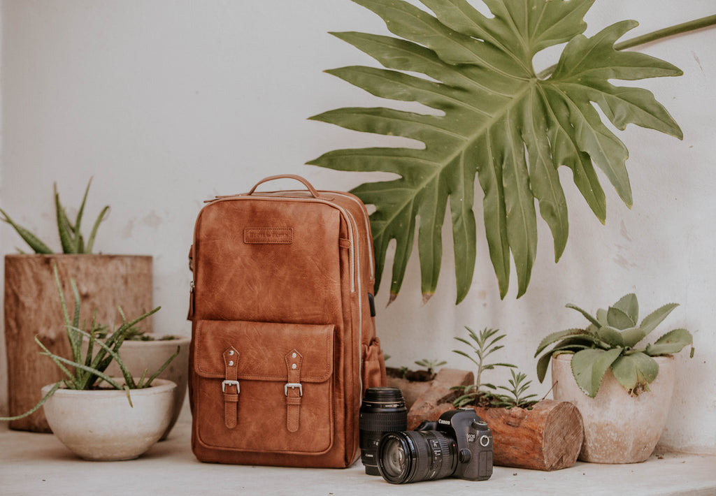 Presale- Willow Root Brown- Camera Backpack