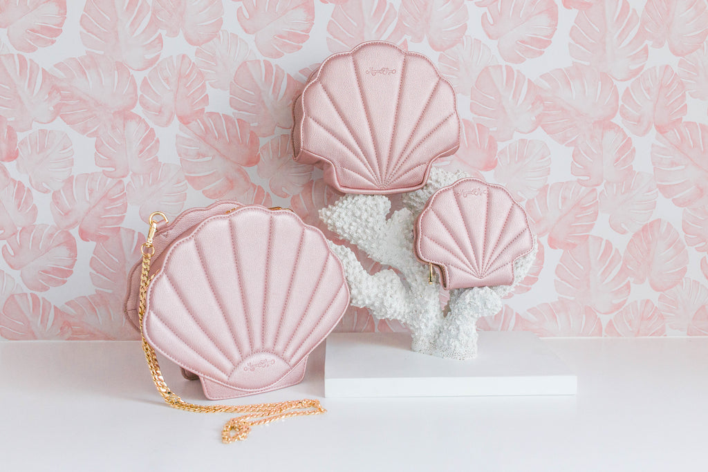 Pink Shell Cosmetic Bag