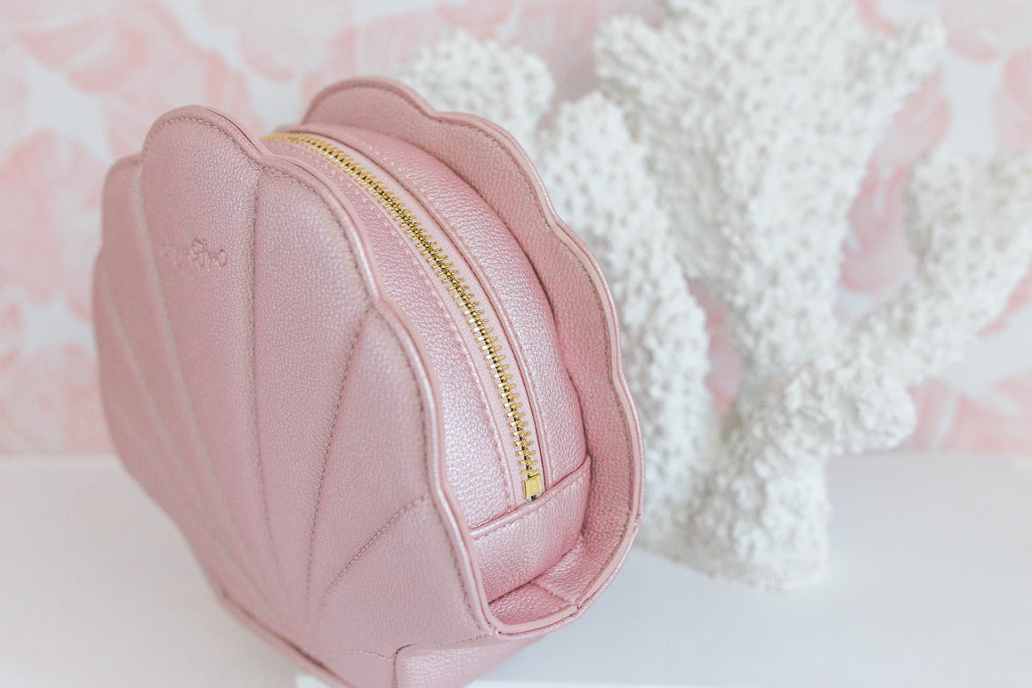 NEW! Pink Shell Cosmetic Bag