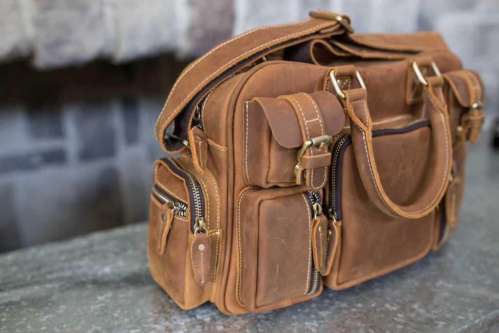 The Flying Dutchman- Vintage Brown Leather Mini Evermore