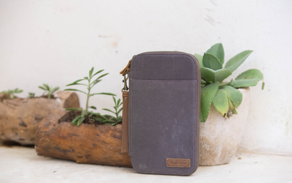 Coven Leather and Canvas Traveler's Wallet