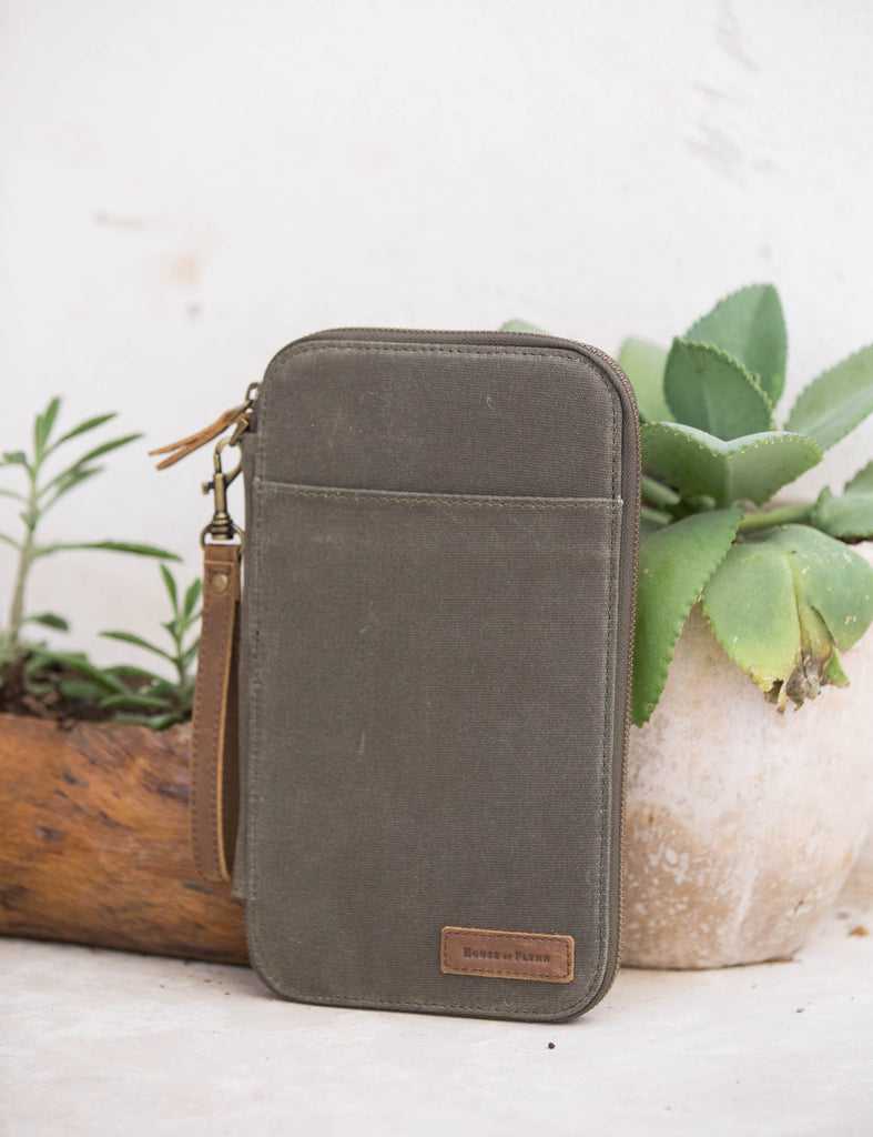 Forest Folk Leather and Canvas Traveler's Wallet
