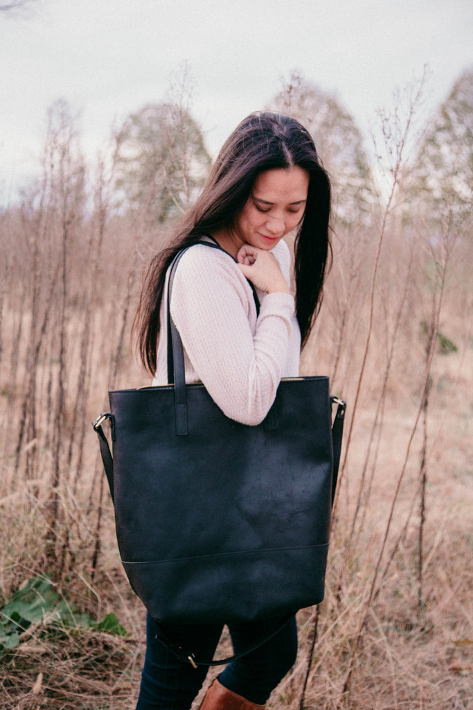 NEW- PRESALE- Everyday Bag- Black Genuine Leather