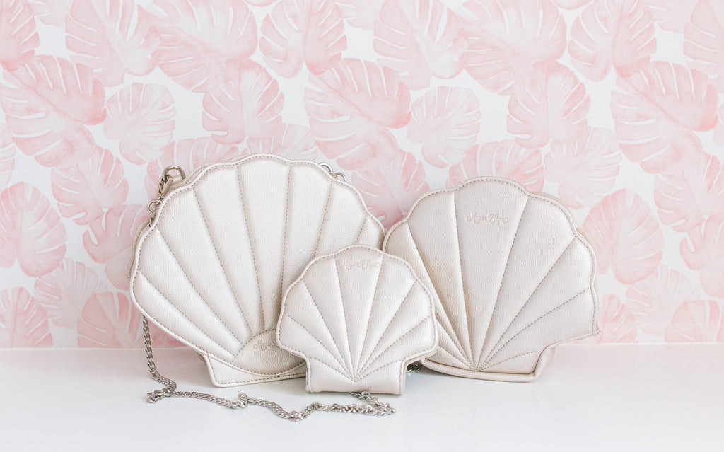 CLEARANCE- Pearl Shell Cosmetic Bag