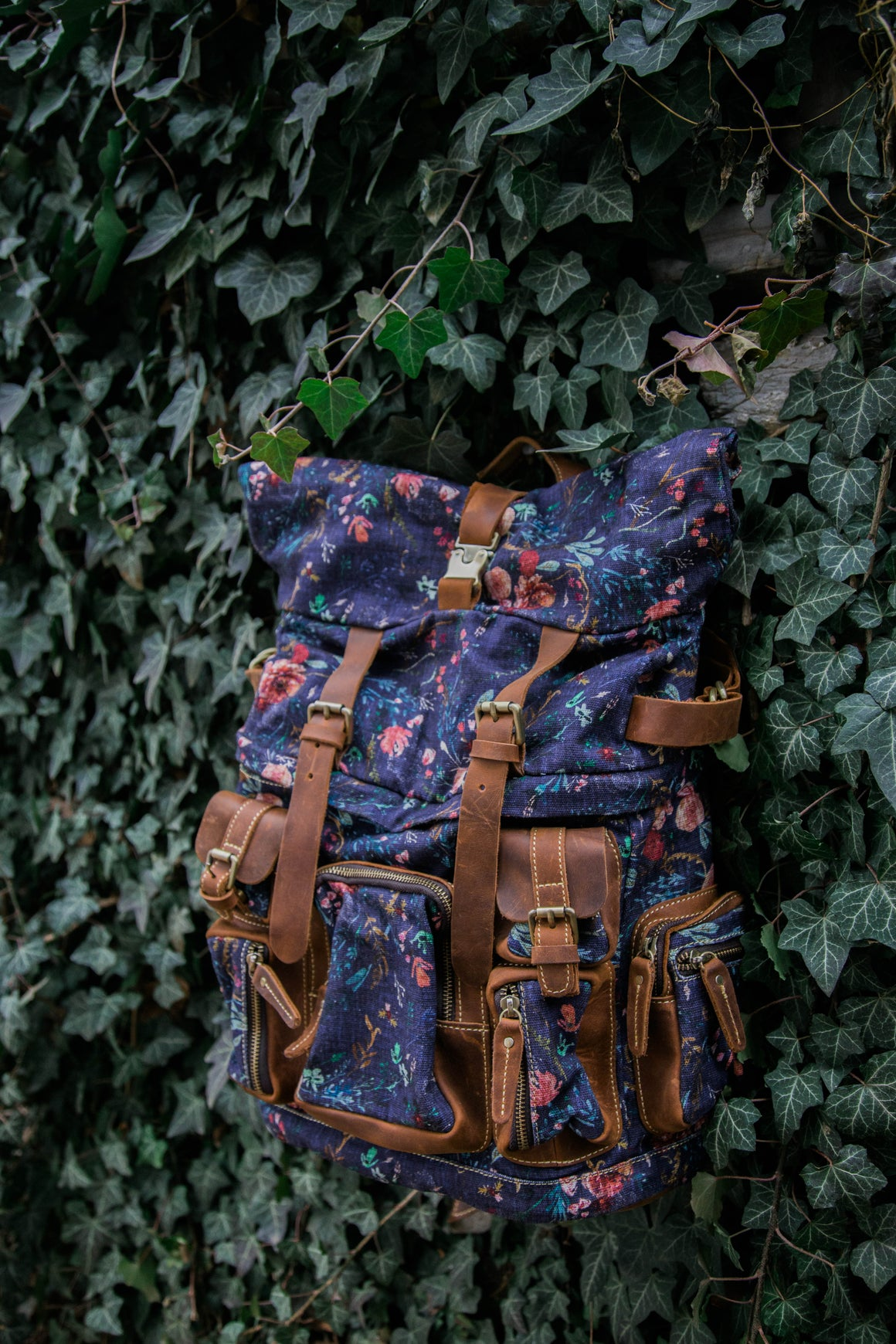 NEW! Grape Fable Floral Rucksack
