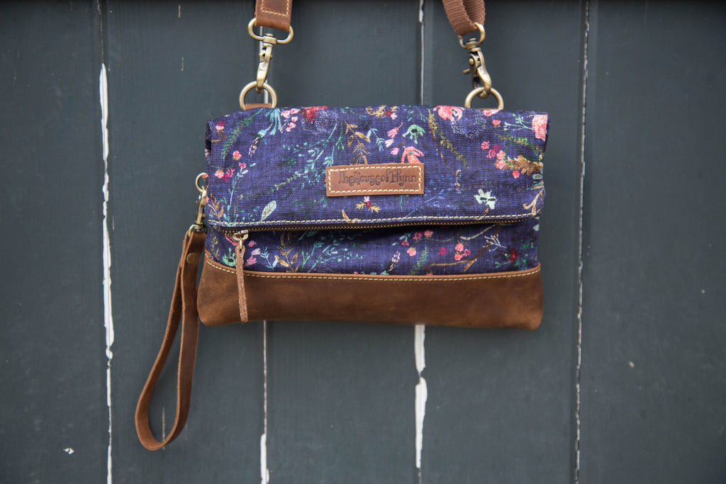 Grape Fable Floral Clutch