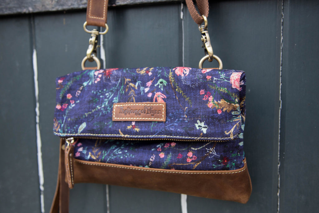 CLEARANCE- Grape Fable Floral Clutch