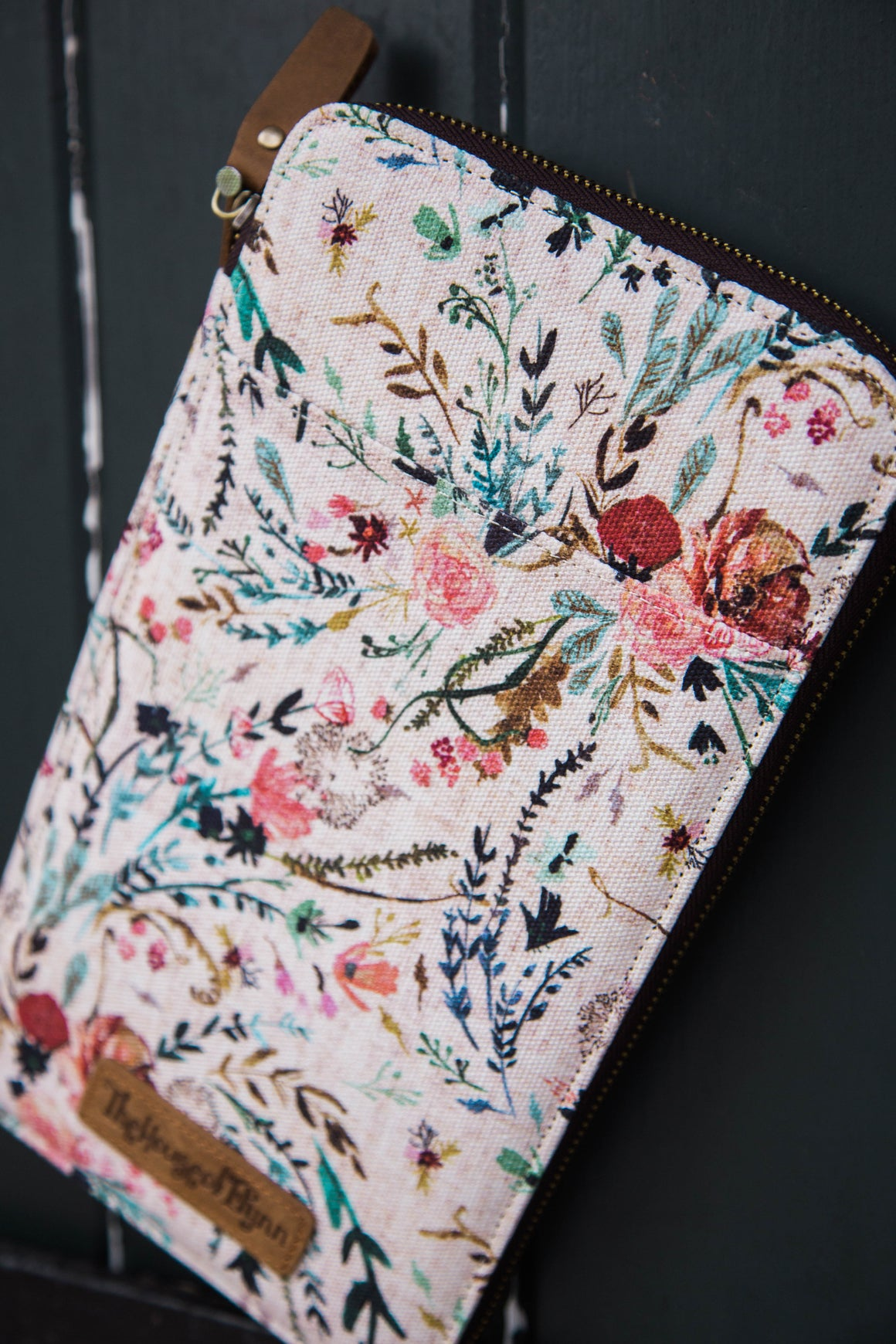 New- Pink Fable Leather and Canvas Traveler's Wallet