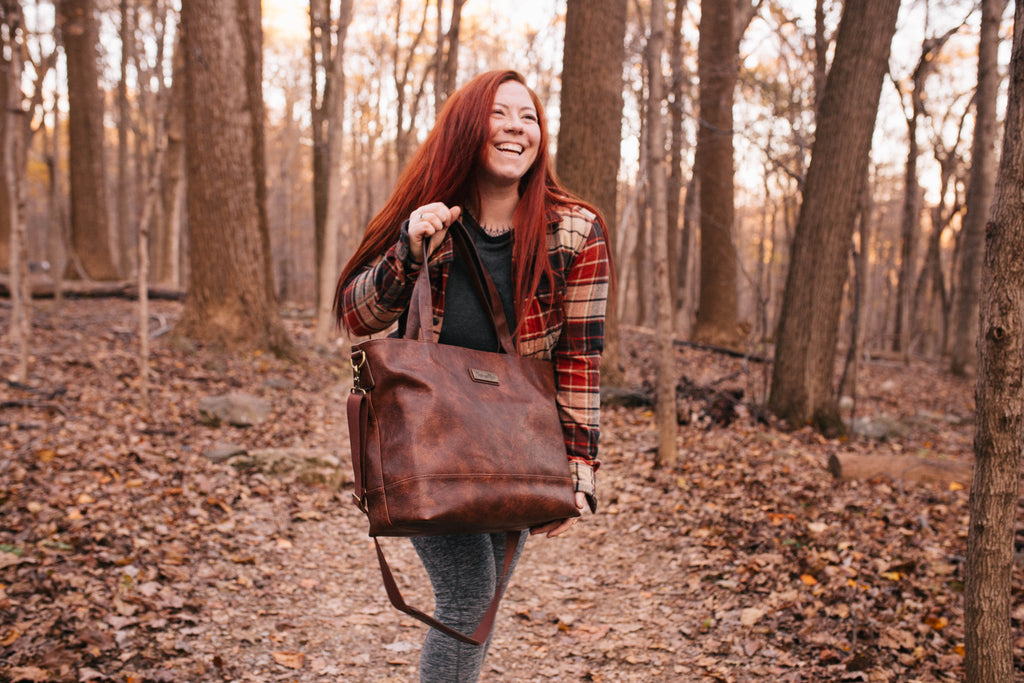 NEW-  Saddle Brown-The Roam and Rise Carryall