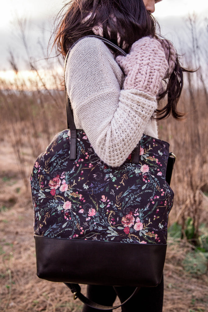 NEW- Everyday Bag- Black Fable Canvas