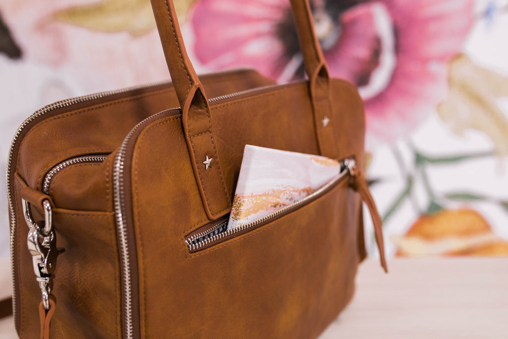 Presale- NEW! Luna Bag- Autumn Cinnamon