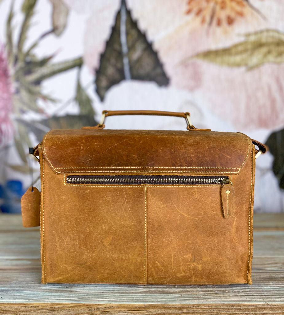 Anne Labor Day Sale - Playa Messenger w/ distressing marks