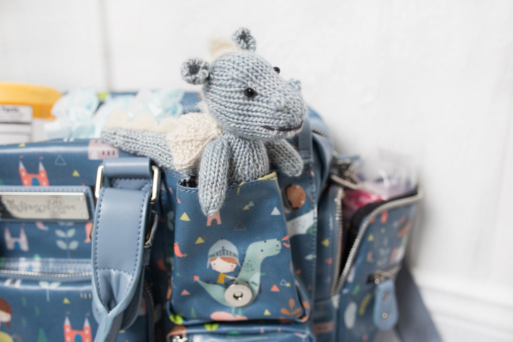 CLEARANCE- Dragons and Unicorns Diaper Bag - Evermore